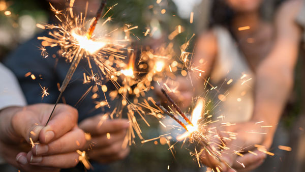 Firework injuries from sparklers